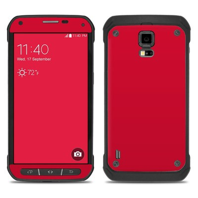 Samsung Galaxy S5 Active Skin - Solid State Red
