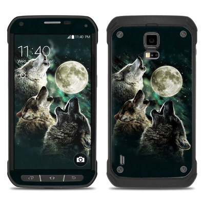 Samsung Galaxy S5 Active Skin - Three Wolf Moon