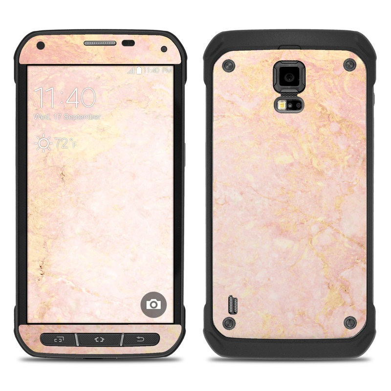 release date 76f5b 95186 Samsung Galaxy S5 Active Skin - Rose Gold Marble