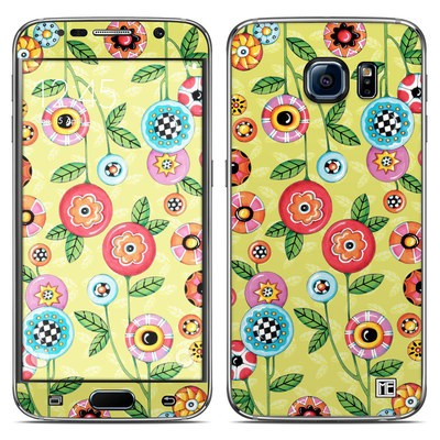 Samsung Galaxy S6 Skin - Button Flowers