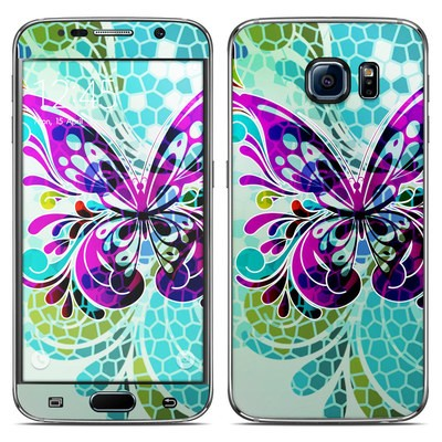 Samsung Galaxy S6 Skin - Butterfly Glass