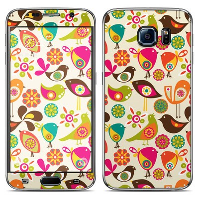 Samsung Galaxy S6 Skin - Bird Flowers