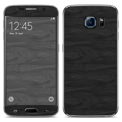 Samsung Galaxy S6 Skin - Black Woodgrain