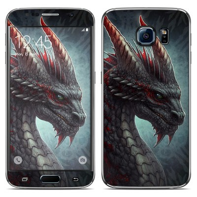 Samsung Galaxy S6 Skin - Black Dragon