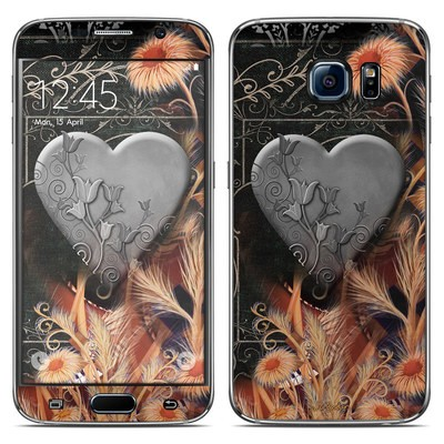 Samsung Galaxy S6 Skin - Black Lace Flower