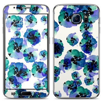 Samsung Galaxy S6 Skin - Blue Eye Flowers