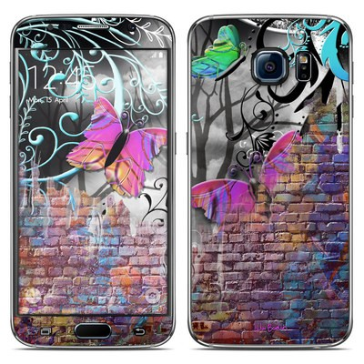 Samsung Galaxy S6 Skin - Butterfly Wall