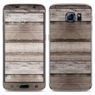 Samsung Galaxy S6 Skin - Barn Wood