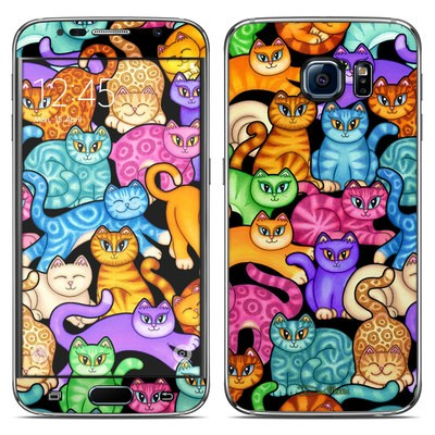 Samsung Galaxy S6 Skin - Colorful Kittens