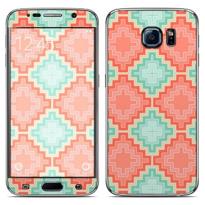 Samsung Galaxy S6 Skin - Coral Diamond