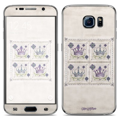Samsung Galaxy S6 Skin - Purple Crown