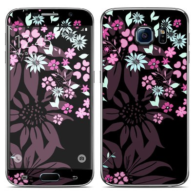 Samsung Galaxy S6 Skin - Dark Flowers