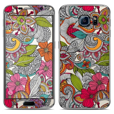Samsung Galaxy S6 Skin - Doodles Color
