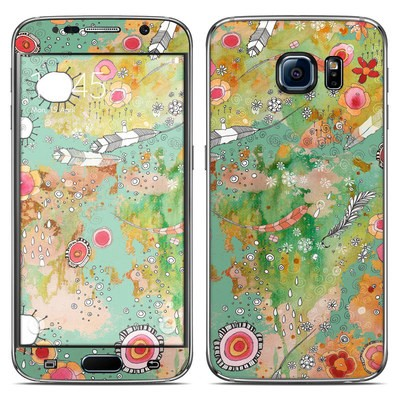 Samsung Galaxy S6 Skin - Feathers Flowers Showers