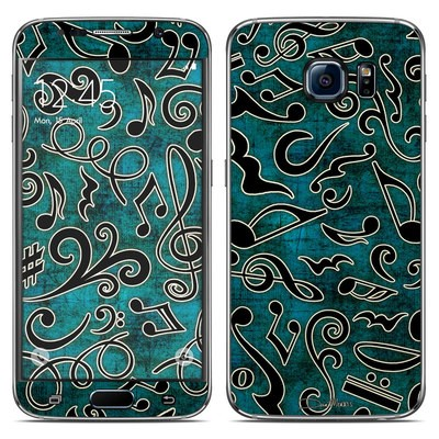 Samsung Galaxy S6 Skin - Music Notes