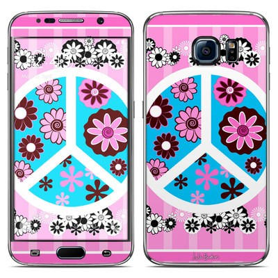 Samsung Galaxy S6 Skin - Peace Flowers Pink