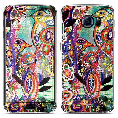 Samsung Galaxy S6 Skin - Purple Birds