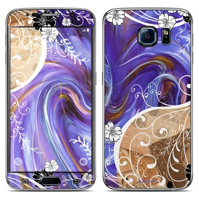 Samsung Galaxy S6 Skin - Purple Waves