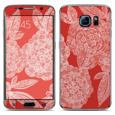 Samsung Galaxy S6 Skin - Red Dahlias