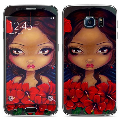 Samsung Galaxy S6 Skin - Red Hibiscus Fairy