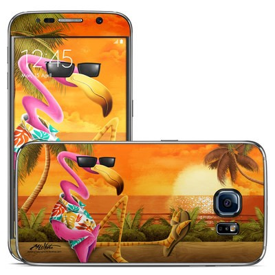 Samsung Galaxy S6 Skin - Sunset Flamingo