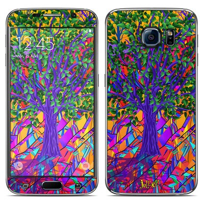 Samsung Galaxy S6 Skin - Stained Glass Tree