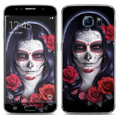 Samsung Galaxy S6 Skin - Sugar Skull Rose