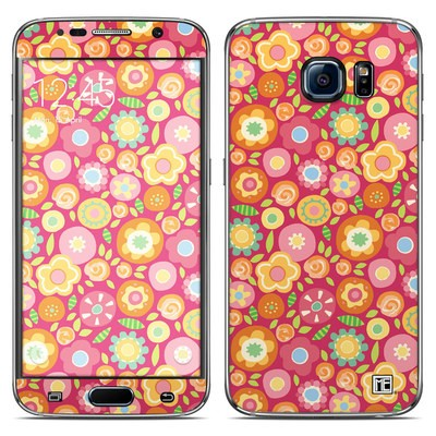 Samsung Galaxy S6 Skin - Flowers Squished
