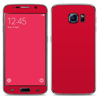 Samsung Galaxy S6 Skin - Solid State Red