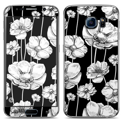 Samsung Galaxy S6 Skin - Striped Blooms