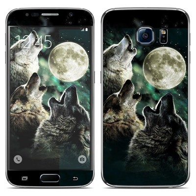 Samsung Galaxy S6 Skin - Three Wolf Moon