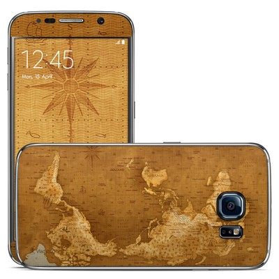 Samsung Galaxy S6 Skin - Upside Down Map