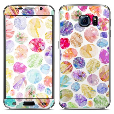 Samsung Galaxy S6 Skin - Watercolor Dots
