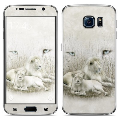Samsung Galaxy S6 Skin - White Lion