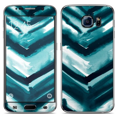 Samsung Galaxy S6 Skin - Watercolor Chevron