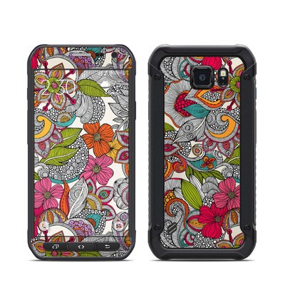 Samsung Galaxy S6 Active Skin - Doodles Color