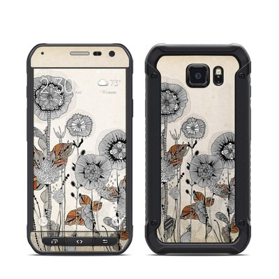 Samsung Galaxy S6 Active Skin - Four Flowers