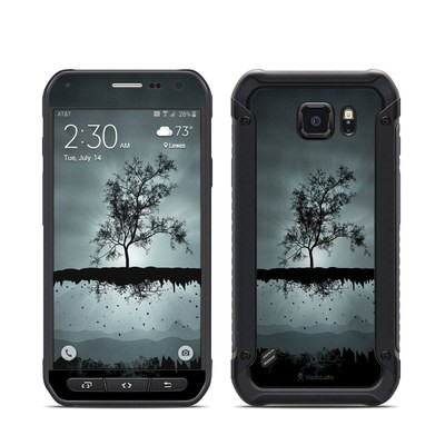 Samsung Galaxy S6 Active Skin - Flying Tree Black