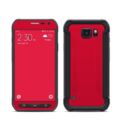 Samsung Galaxy S6 Active Skin - Solid State Red