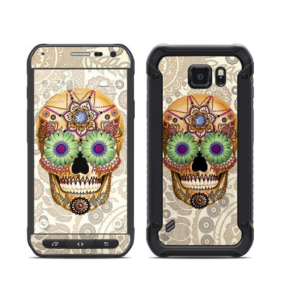 Samsung Galaxy S6 Active Skin - Sugar Skull Bone