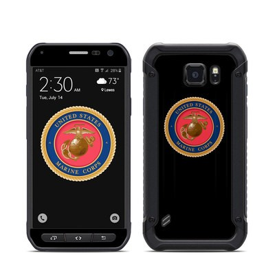 Samsung Galaxy S6 Active Skin - USMC Black