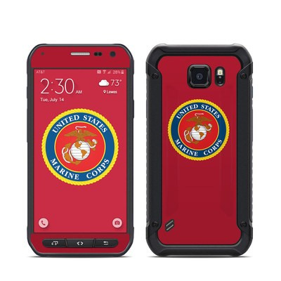 Samsung Galaxy S6 Active Skin - USMC Red