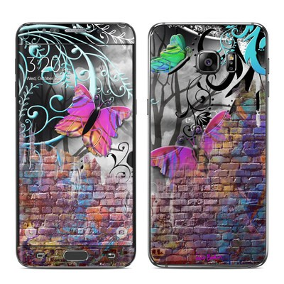 Samsung Galaxy S6 Edge Plus Skin - Butterfly Wall