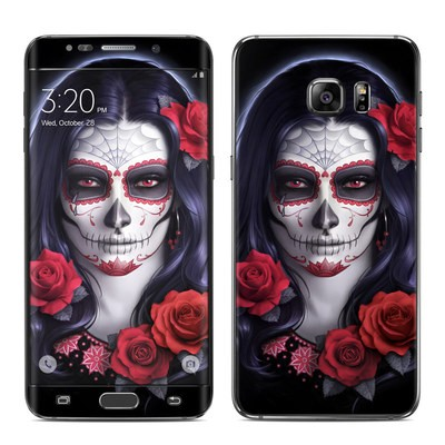 Samsung Galaxy S6 Edge Plus Skin - Sugar Skull Rose