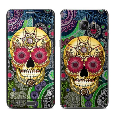 Samsung Galaxy S6 Edge Plus Skin - Sugar Skull Paisley