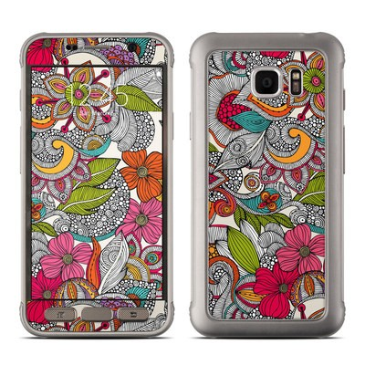 Samsung Galaxy S7 Active Skin - Doodles Color