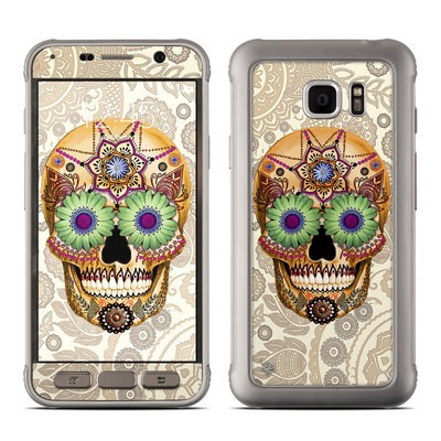 Samsung Galaxy S7 Active Skin - Sugar Skull Bone