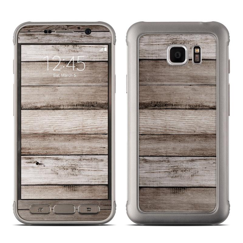 sale retailer e197a 3a0cd Samsung Galaxy S7 Active Skin - Barn Wood