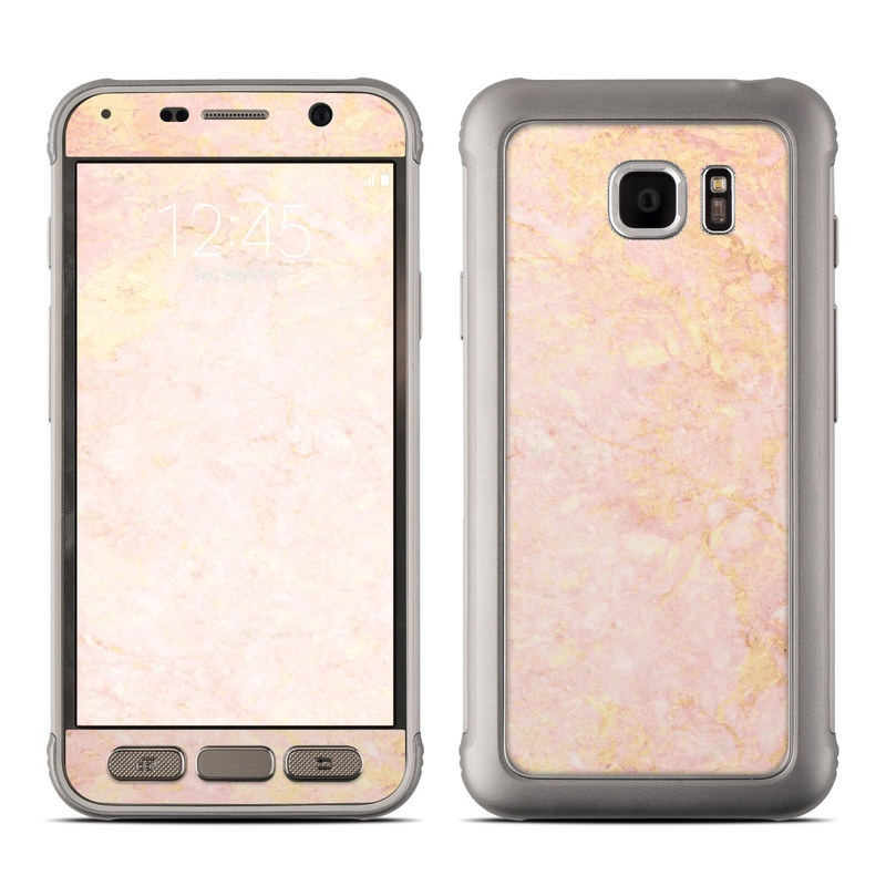samsung galaxy s7 active skin rose gold marble by marble collection decalgirl. Black Bedroom Furniture Sets. Home Design Ideas