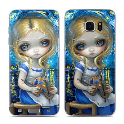 Samsung Galaxy S7 Edge Skin - Alice in a Van Gogh